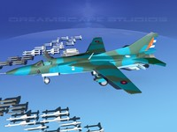 3d model of mig-23 flogger b fighter