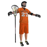 lacrosse player 3 3d model