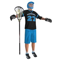 3d lacrosse player model