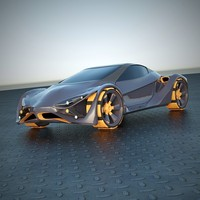 3d futuristic car vehicle model