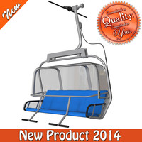 cableway chair type-1 3d obj