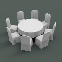 table chair banquet 3d max