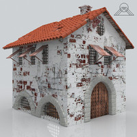 old ghost house 3d model