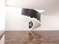 3dsmax spiral stairs