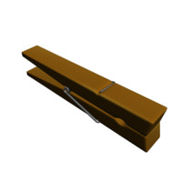 clothes pin 3d 3ds