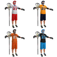 3d pack lacrosse players model