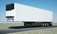 3d model of schmitz trailer