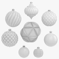 3d - 8 christmas decorations model