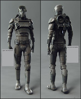 3d sci fi soldier animation
