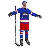 3d model hockey player