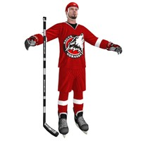 3d hockey player 3 model