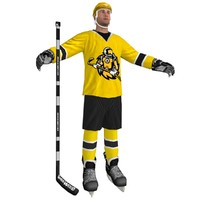 hockey player 3d max