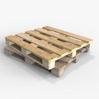 3d wooden pallet wood model