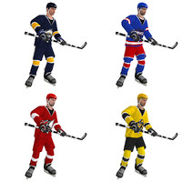 3ds max rigged hockey player