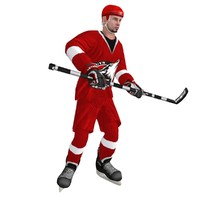 rigged hockey player 3 max