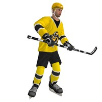 3d model rigged hockey player
