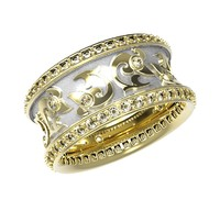 3ds max gold ring enamel diamonds