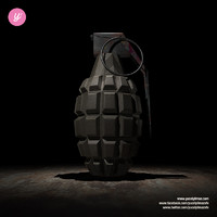 hand grenade 4k - obj