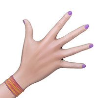 3d female rigged hands