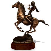3ds max horse statuette
