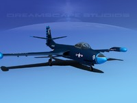 korean f2h banshee jet fighter 3ds
