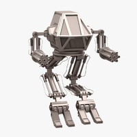 3ds max robot mech warrior