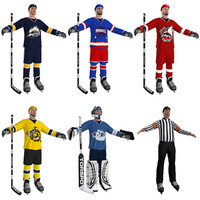 pack hockey 3d model