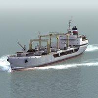 ivan bubnov fleet oiler 3d model