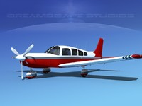 propeller piper cherokee 260 3d max