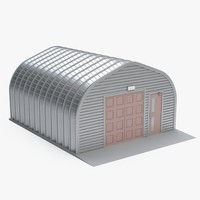 hangar warehouse 3d model