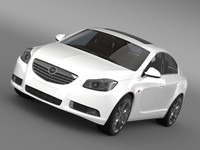 3d opel insignia biturbo 2008-13 model