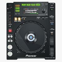 3d model digital player pioneer cdj