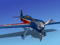 3d model sukhoi su-26 aerobatics