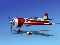 3dsmax sukhoi su-26 aerobatics