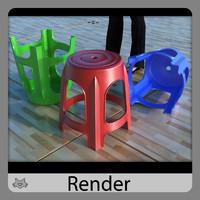 stool banco 3d model