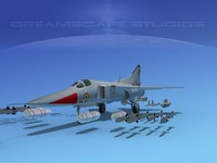 mig-27 flogger india 3d 3ds