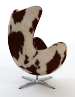 3d arne jacobsen cowhide egg chair model