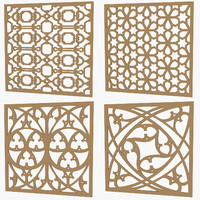 set decorative panels 3d model
