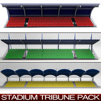 pack stadium seating tribunes 3d model