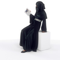 female arab 3d max