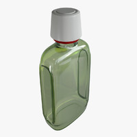3d model bathroom glass bottle