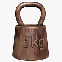 3d rusty weight