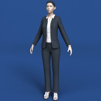 woman clothing eyes 3d model