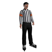 rigged hockey referee 3d max