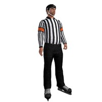 3d rigged hockey referee