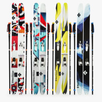 3d model black diamond skis