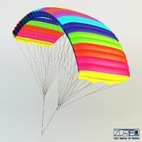 3d model paraglider 1