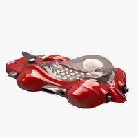car futuristic 3d max