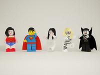 lego minifigures dracula 3d max