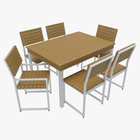 outdoor furniture 2 chairs 3d max